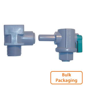 "EZ Faucet Adapter with 1/4"" Mur-lok 90 Ball Valve (Bulk Pkg)"