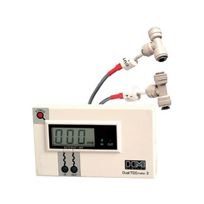 """Commercial Dual TDS Meter w/ 1/4"""" Tee"""