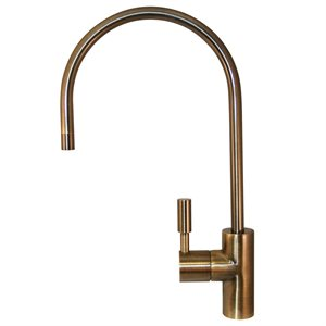 "Li Kuan 888 Series, Ceramic Disc, 16"" Spout, Antique Brass, NSF 61/AB1953 Compliant"