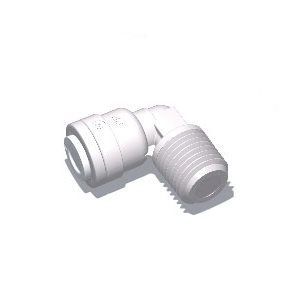 "1/4"" Tube x 1/4"" Male NPTF Elbow (10/Bag)"
