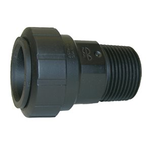 """3/4"""" CTS x 3/4"""" NPT Male Connector - Black"""