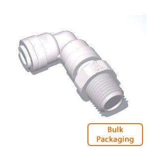 "3/8"" Tube x 1/2"" Male NPTF Swivel Elbow (Bulk Pkg)"