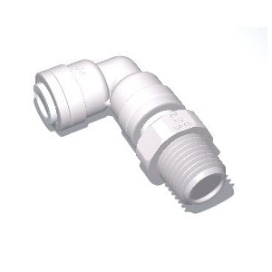 "3/8"" Tube x 1/2"" Male NPTF Swivel Elbow"