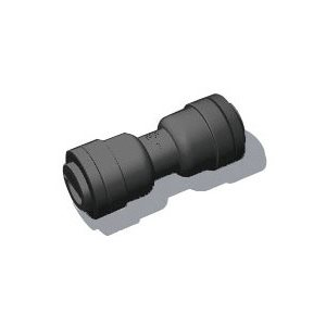 "3/8"" Tube x 5/16"" Tube Union - Black"