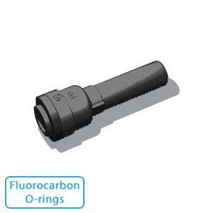 """1/4"""" Tube x 3/8"""" Stem-Black, Fluorocarbon O-rings (10/Bag)"""
