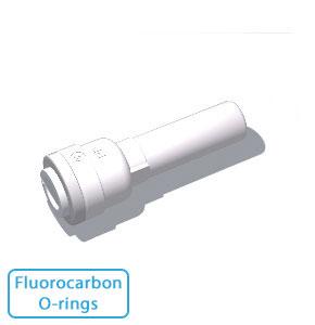 """3/8"""" Tube x 1/2"""" Stem- w/Fluorocarbon O-rings (10/Bag)"""