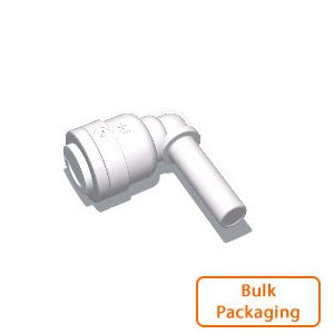 "1/4"" Tube x 1/4"" Stem Elbow (Bulk Pkg)"