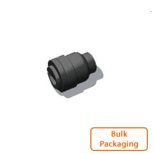 "1/4"" Tube End Stop - Black (Bulk Pkg)"