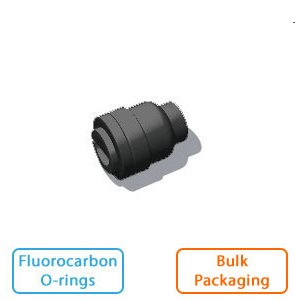 "3/8"" Tube End Stop-Black w/Fluorocarbon O-rings (Bulk Pkg)"