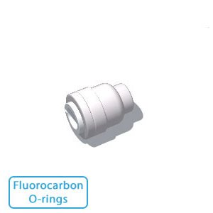 "1/2"" Tube End Stop w/Fluorocarbon O-rings (10/Bag)"