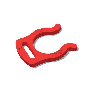 "1/4"" Mur-lok Locking Clip-Red (100/Bag)"